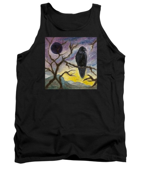 Winter Moon Raven Tank Top by FT McKinstry