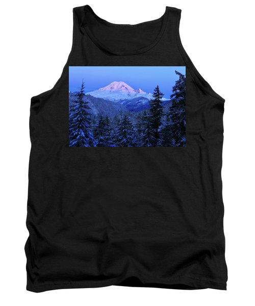 Winter Morning With Mount Rainier Tank Top