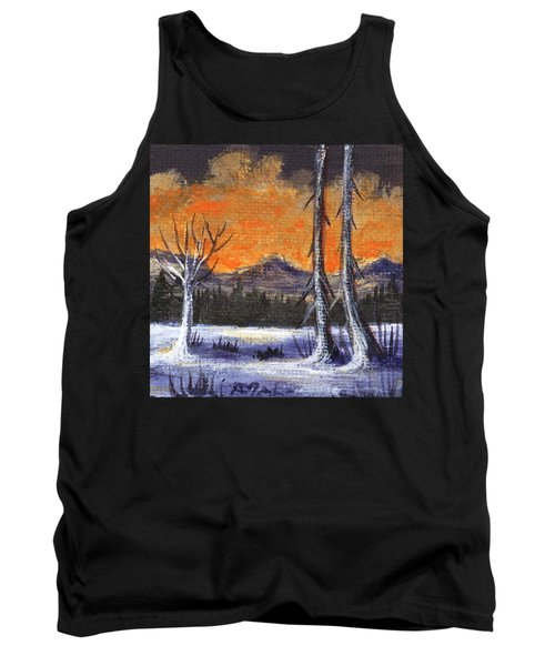 Tank Top featuring the painting Winter Solitude #3 by Anastasiya Malakhova