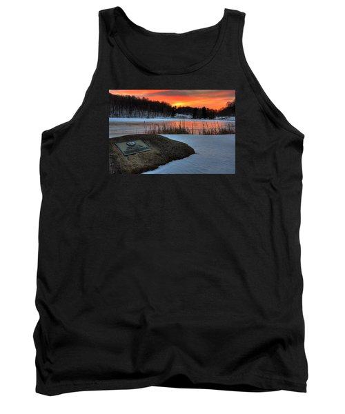 Winter Sunset Abbott Lake Tank Top