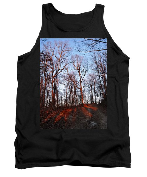 Winter Sunset In Georgia Mountains Tank Top
