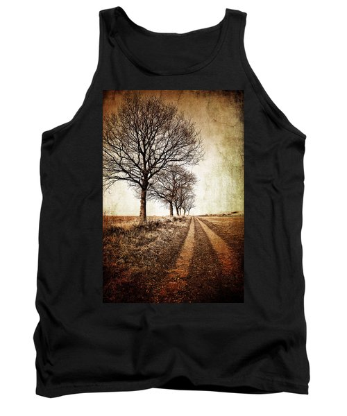 Winter Track With Trees Tank Top