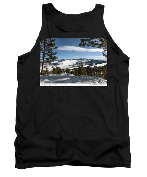 Wintertime View From Hellroaring Overlook In Yellowstone National Park Tank Top by Carol M Highsmith