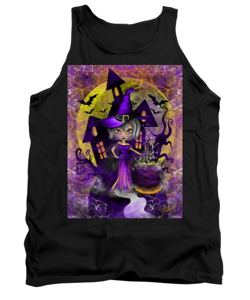 Wisdom Witch Fantasy Art Tank Top