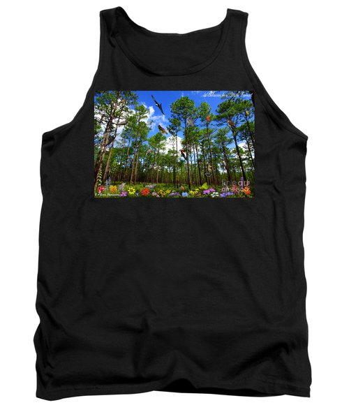 Withlacoochee State Forest Nature Collage Tank Top