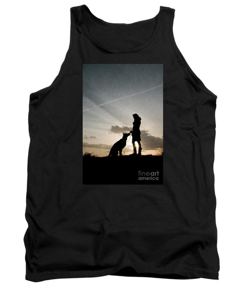 Woman And Dog  Tank Top