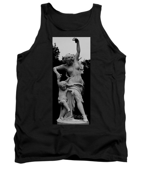 Tank Top featuring the painting Woman Statue by Eric  Schiabor