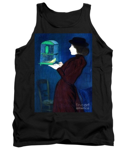 Woman With A Bird Cage  Detail Tank Top