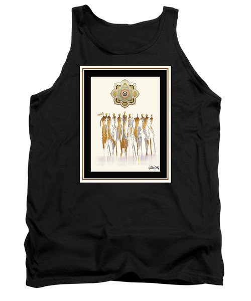 Women Chanting Mandala Tank Top