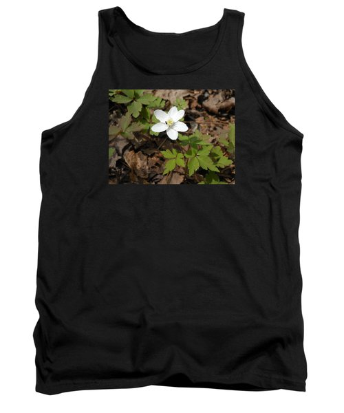 Tank Top featuring the photograph Wood Anemone by Linda Geiger