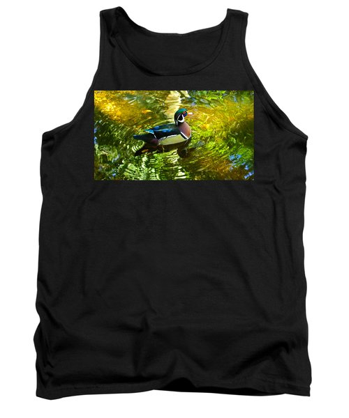Wood Duck In Lights Tank Top