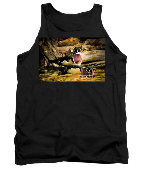 Wood Ducks In Autumn Waters Tank Top