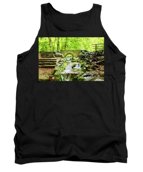 Woodland Steps And Stream Tank Top