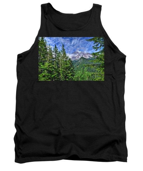 Woods Surrounding Mt. Rainier Tank Top