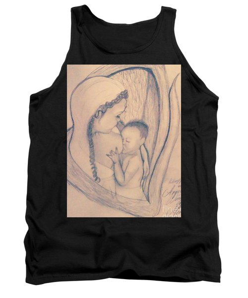 Wrapped Within The Angel Wings Of Momma Tank Top