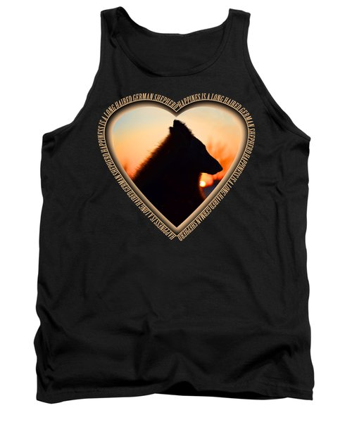 Wuffstar Happiness Is A Long Haired German Shepherd Heart Tank Top