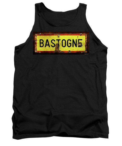 Wwii Bastogne Town Sign Tank Top
