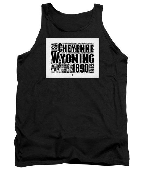 Wyoming Word Cloud Map 2 Tank Top
