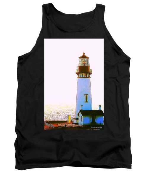Yaquina Head Lighthouse Tank Top by Steve Warnstaff
