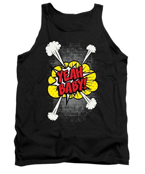 Yeah Baby Pop Art Comics Explosion Tank Top