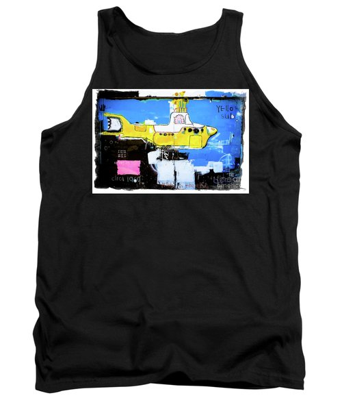 Tank Top featuring the photograph Yello Sub Graffiti by Colleen Kammerer