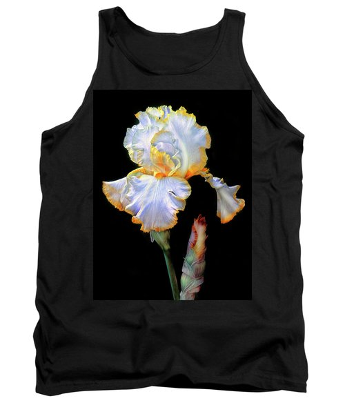 Yellow And White Iris Tank Top