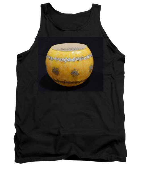 Yellow And White Vase Tank Top