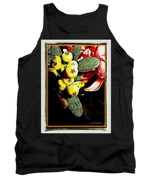 Tank Top featuring the photograph Yellow Berries by Joan  Minchak