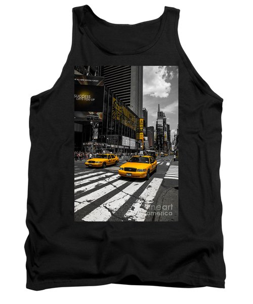 Yellow Cabs Cruisin On The Times Square  Tank Top
