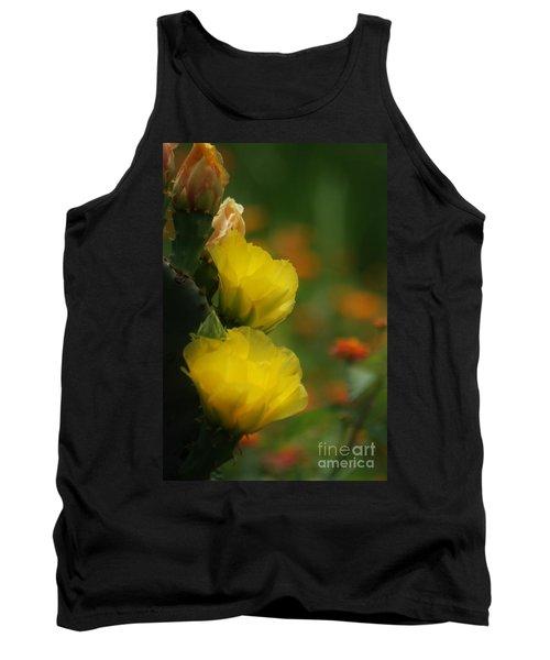 Yellow Cactus Flower Tank Top