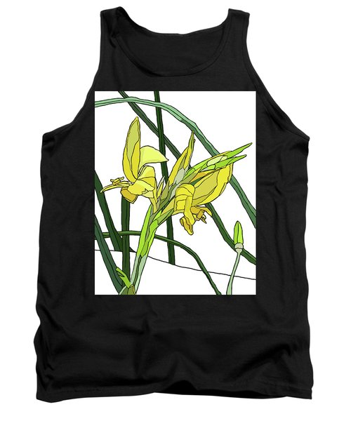 Yellow Canna Lilies Tank Top by Jamie Downs