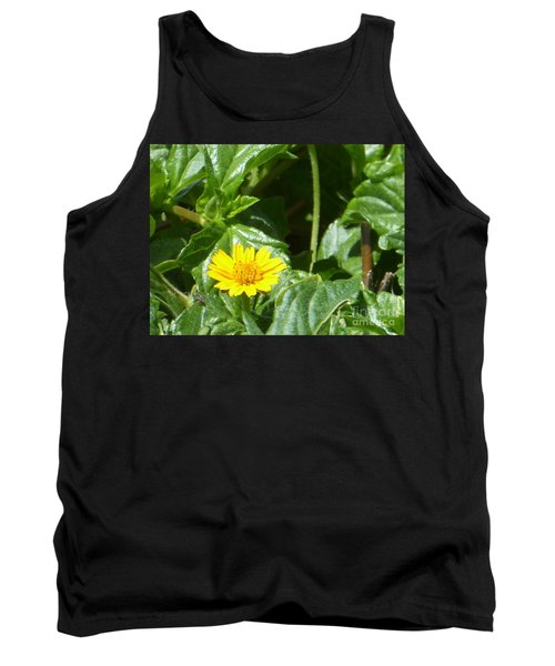 Yellow Caribbean Flower Tank Top by Margaret Brooks