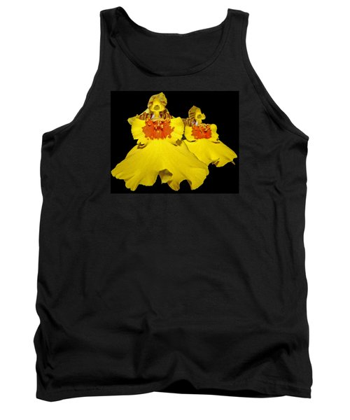 Tank Top featuring the photograph Yellow Dresses by Judy Vincent
