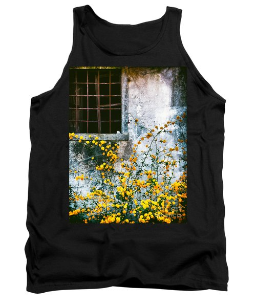 Yellow Flowers And Window Tank Top