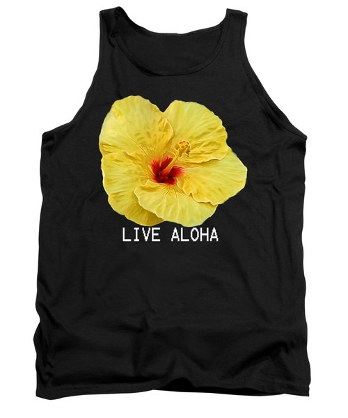 Yellow Hibiscus Tank Top