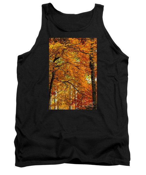 Tank Top featuring the photograph Yellow Leaves by Barbara Bowen
