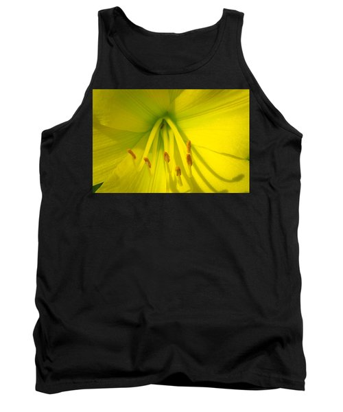 Yellow Lily Macro Tank Top by Bruce Pritchett