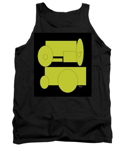 Yellow On Black Tank Top