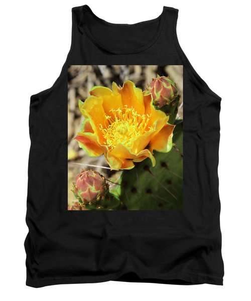 Yellow Prickly Pear Cactus Tank Top