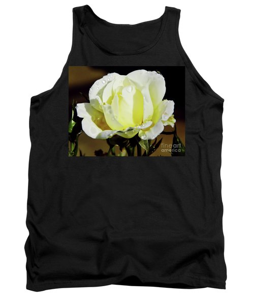 Yellow Rose Dew Drops Tank Top