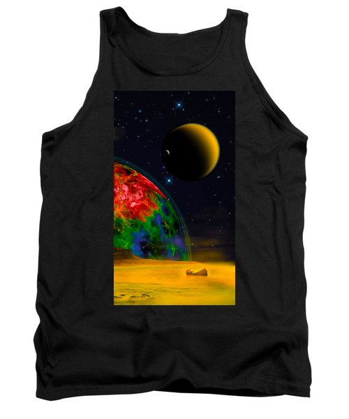 Yellow Sea On Kepler 186d Tank Top