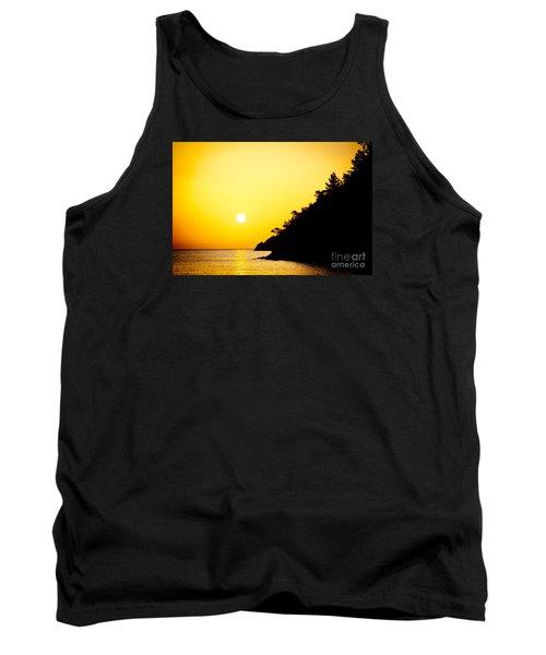 Yellow Sunrise Seascape And Sun Artmif  Tank Top