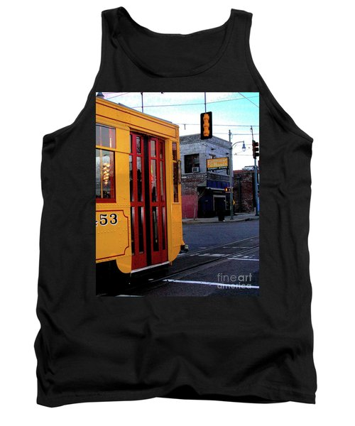 Yellow Trolley At Earnestine And Hazels Tank Top