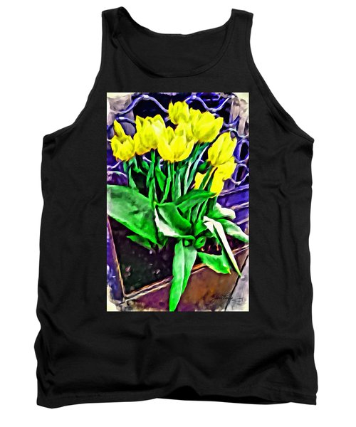 Tank Top featuring the painting Yellow Tulips by Joan Reese