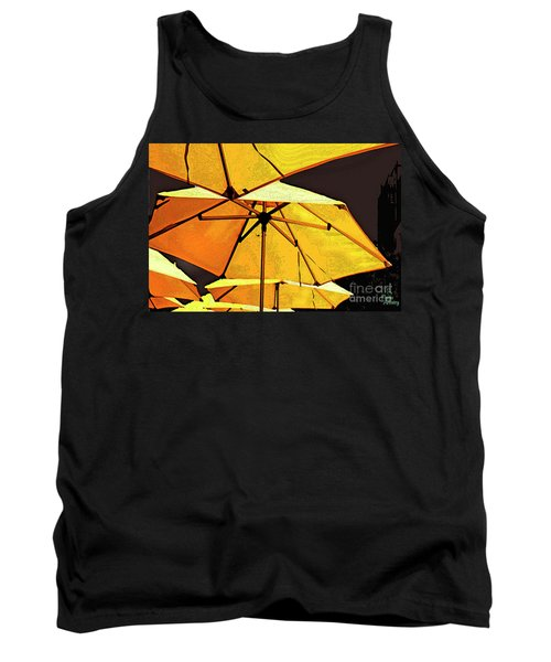 Yellow Umbrellas Tank Top