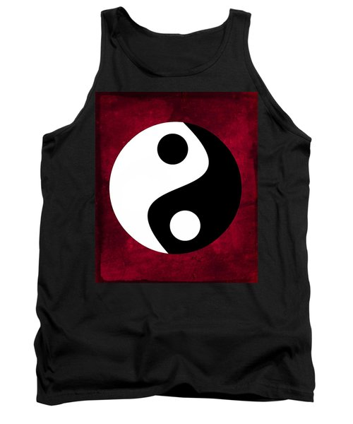 Yin And Yang - Dark Red Tank Top
