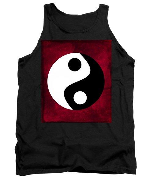 Yin And Yang - Dark Red Tank Top