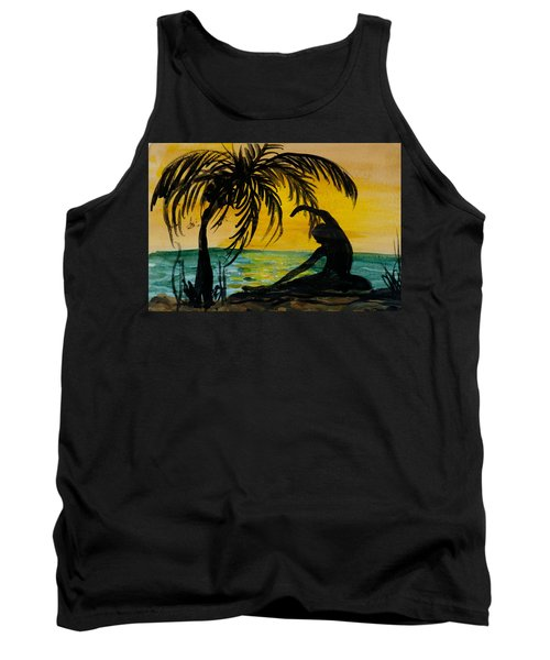 Yoga Seated Side Bend Tank Top by Donna Walsh