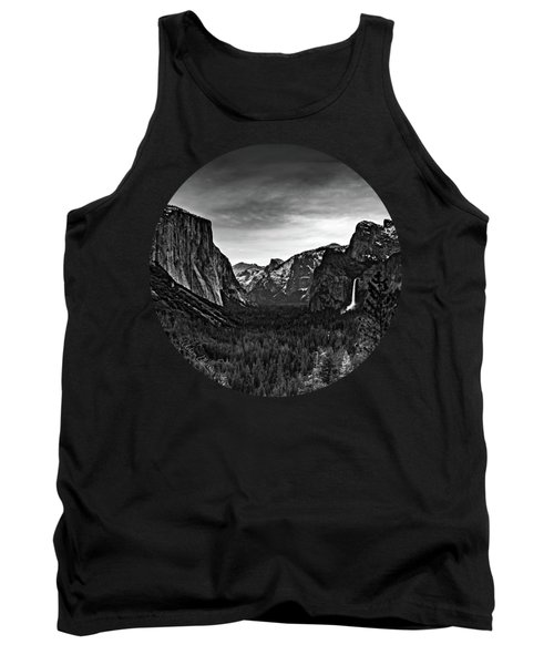 Yosemite Sunrise, Black And White Tank Top