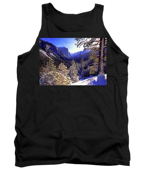 Yosemite Valley In Winter, California Tank Top
